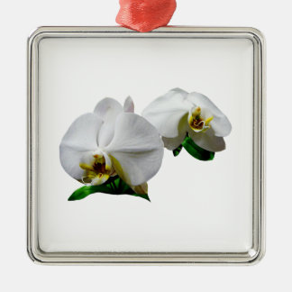 Delicate White Orchids Christmas Ornament