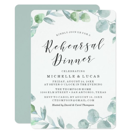 Delicate Wreath | Rehearsal Dinner Invitation