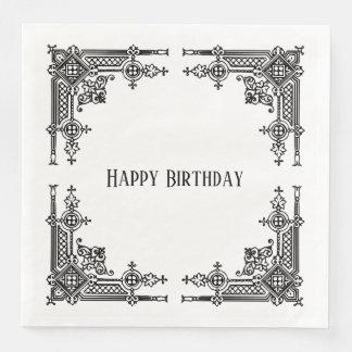 Delicately Detailed Victorian Design Paper Napkins