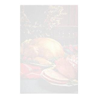 Delicious Baked ham, roast turkey Custom Stationery
