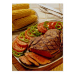 Delicious Beef roast with corn