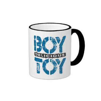 Delicious BOY TOY - I Am Ultimate Booty Call, Blue Ringer Mug