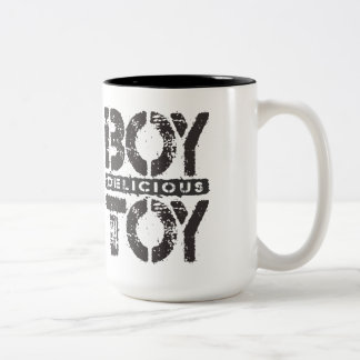Delicious BOY TOY - I Am Ultimate Booty Call, Onyx Two-Tone Coffee Mug