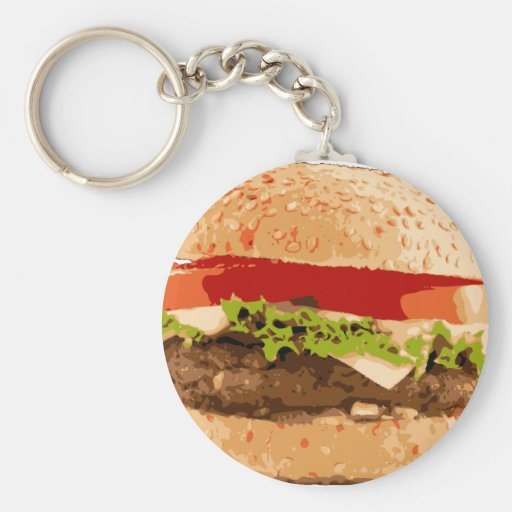 Delicious Burger Keychain