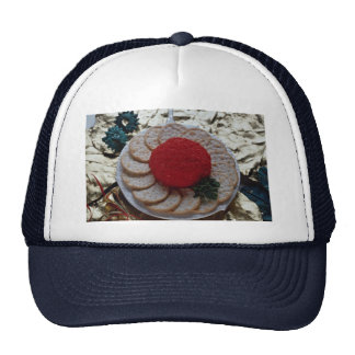 Delicious Caviar with round crackers Mesh Hat