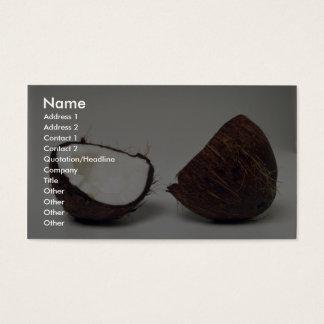 Delicious Coconut halves Business Card