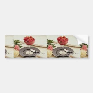 Delicious Cranberry ice dessert Bumper Stickers