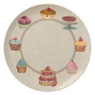 Delicious Desserts - Beige Plate