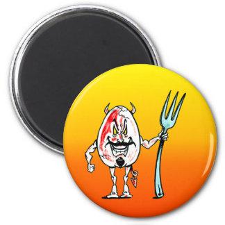 Delicious Deviled Egg 6 Cm Round Magnet