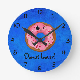 Delicious Donuts Round Clock