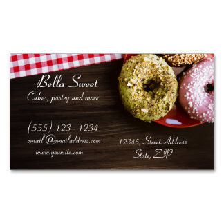 Delicious Doughnuts Magnetic Business Card