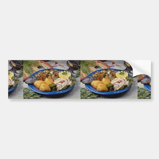 Delicious Fish dinner Bumper Stickers
