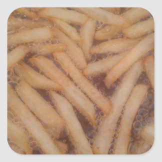 Delicious French Fries Square Sticker