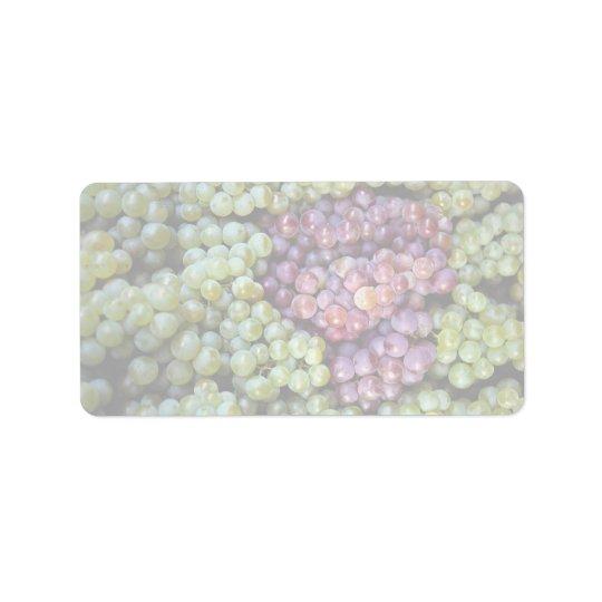 Delicious grapes fruit label