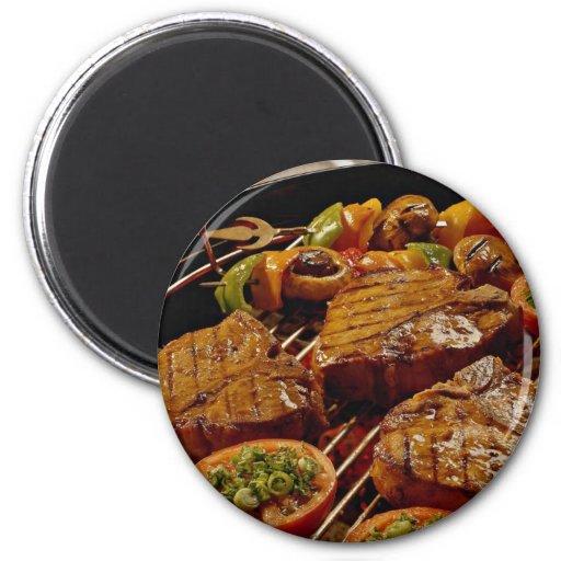 Delicious Grilled T-bone steaks Refrigerator Magnet