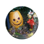 Delicious Halloween Porch Friends Porcelain Plate