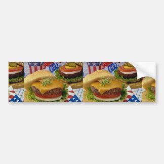 Delicious Hamburger Bumper Stickers