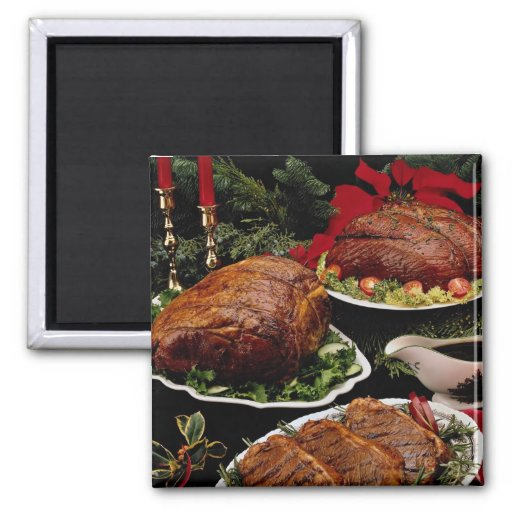 Delicious Holiday beef roast and steaks Magnets