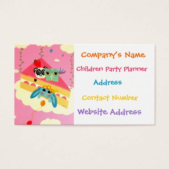 Delicious Imagination Party Business Card