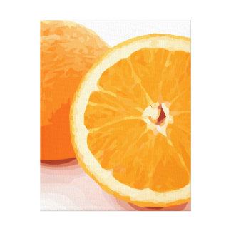 Delicious Juicy Orange Slices Canvas Print