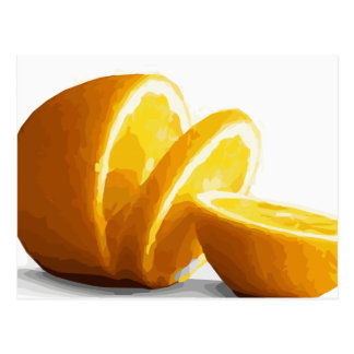 Delicious Juicy Orange Slices Postcard