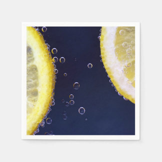 Delicious Lemon Slices in Water Disposable Napkin