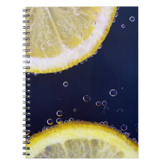Delicious Lemon Slices in Water Spiral Notebook