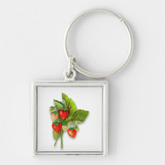 Delicious Looking Strawberries Key Ring