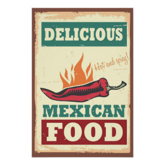 Delicious Mexican Food Poster