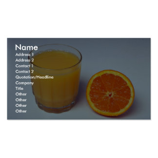 Delicious Orange and juice Business Card Template