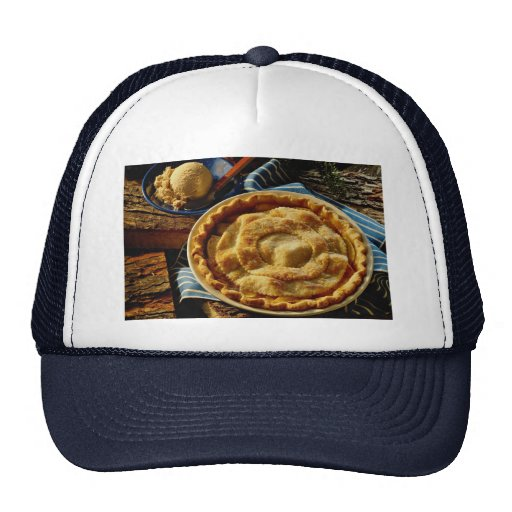 Delicious Peach pie, vanilla ice cream Trucker Hat