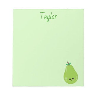 Delicious Pear Green Notepad