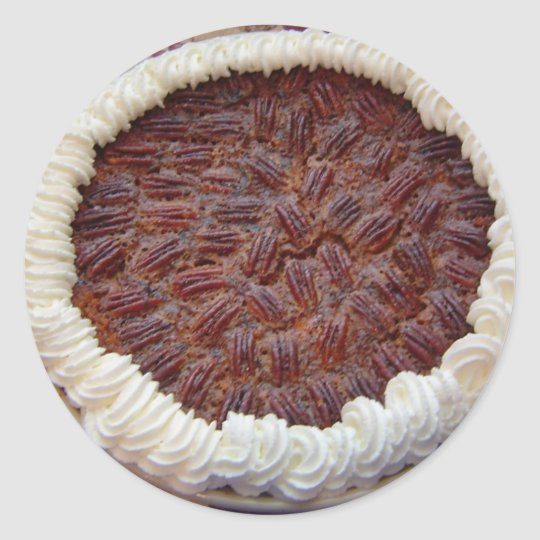 Delicious Pecan Pie! Classic Round Sticker
