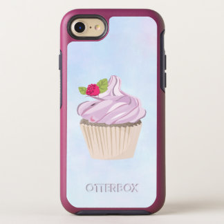 Delicious Pink Cupcake Berry on Top OtterBox Symmetry iPhone 8/7 Case