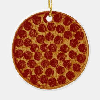 Delicious Pizza Pie Christmas Ornament