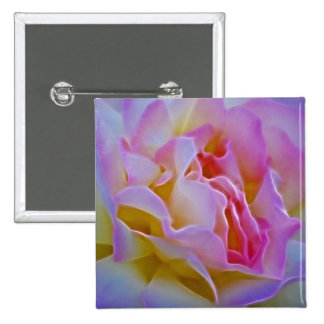 Delicious rose and meaning 15 cm square badge