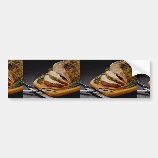 Delicious Sliced pork roast Bumper Stickers