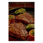 Delicious T-bone steaks Posters