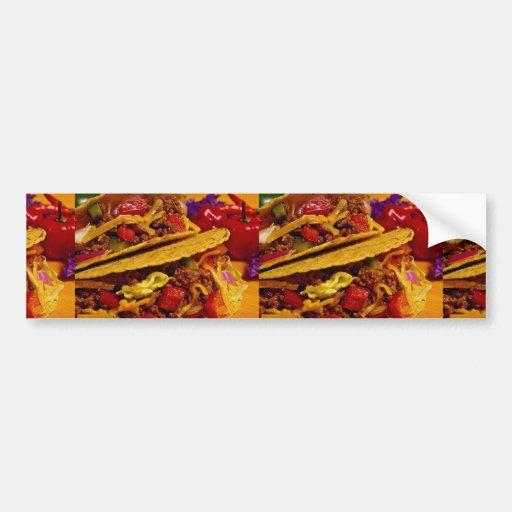 Delicious tacos dish bumper stickers