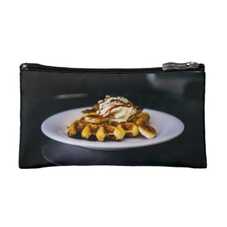 Delicious thick waffle for breakfast cosmetic bags