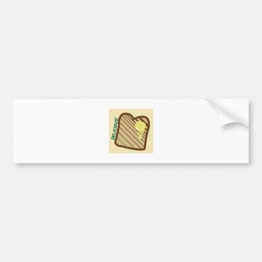 Delicious Toast Bumper Stickers