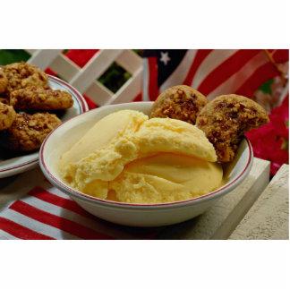 Delicious Vanilla ice cream Standing Photo Sculpture