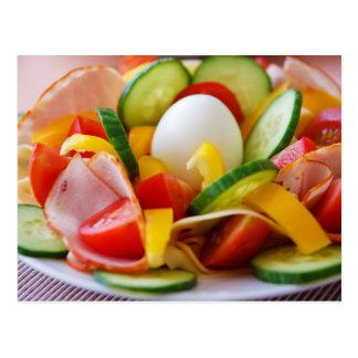 Delicious Vegetables Salad Food Picture Postcard