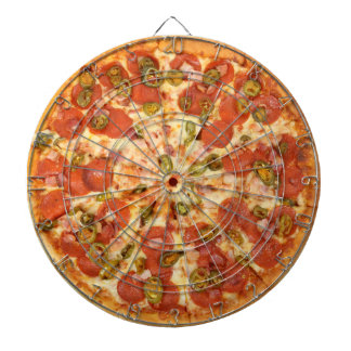 delicious whole pepperoni jalapeno pizza photo dart boards