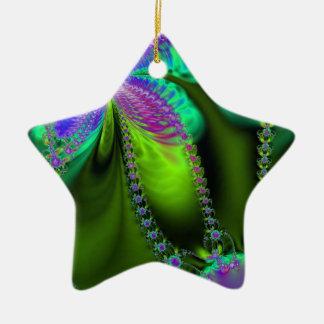 Delight in Color Ceramic Star Decoration
