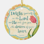 Delight in the Lord - Personalised Ornament
