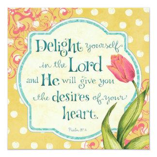 Delight in the Lord - Personalized 13 Cm X 13 Cm Square Invitation Card