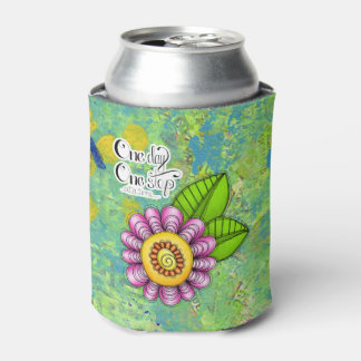 Delight Positive Thought Doodle Flower Can Cooler