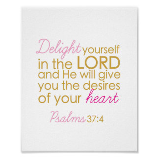 Delight yourself in the Lord - Art print
