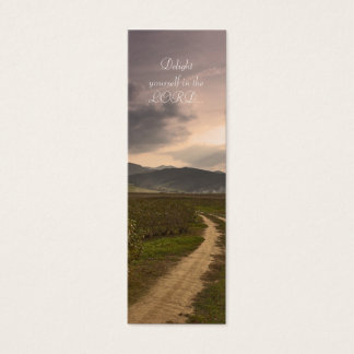 Delight yourself in the LORD  - Bookmark Mini Business Card